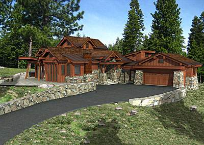 Martis Camp Rock & Timber Home