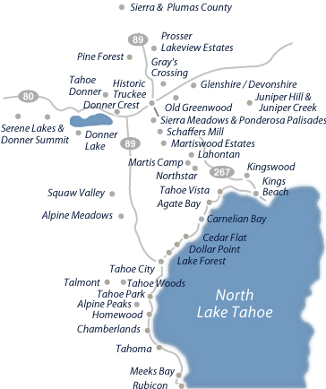 truckee map lake tahoe Search By Map For Real Estate In North Tahoe And Truckee truckee map lake tahoe