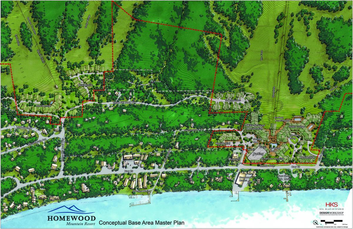 The homewood mountain resort ski area master plan for Mountain plan