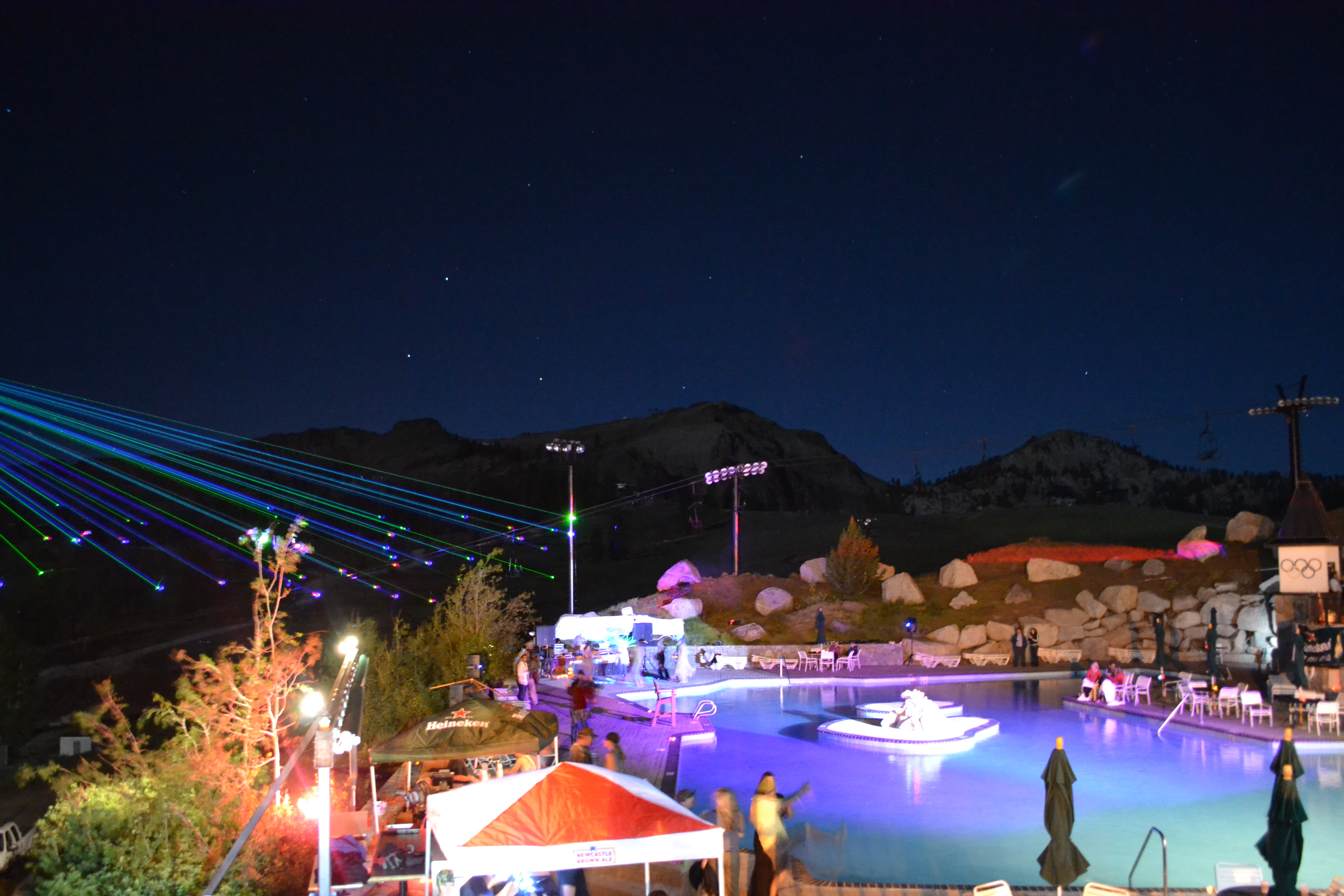 Full moon party at high camp squaw valley - High camp swimming pool squaw valley ...